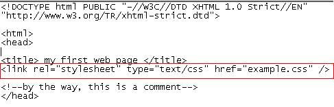 link ke halaman HTML